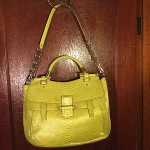 Coach Pinnacle Embossed M Python Abby Gold/Yellow